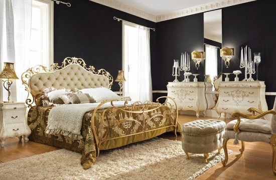 Captivating Richie Rich White U0026 Golden Accent Bedroom Design