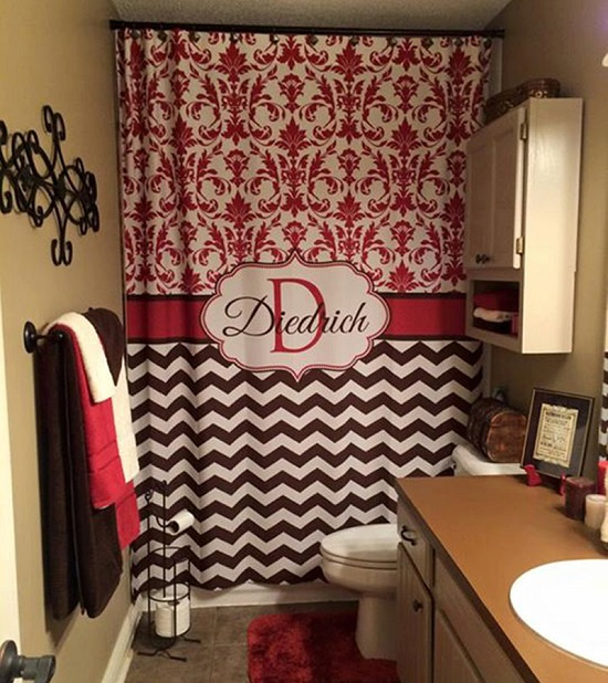 Richy Rich Fabric Bathroom Shower Curtain