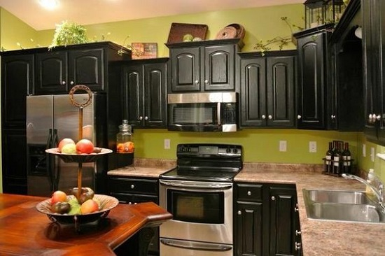 green and black kitchen 35 eco friendly green kitchen ideas ultimate home ideas 3951