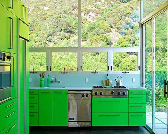Green Kitchen Design Ideas ~ Eco friendly green kitchen ideas ultimate home