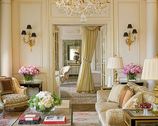 Strikingly Beautiful Golden Luxury Living Room