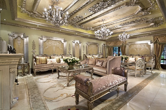luxury living room sets. Stunning Pink  Golden Royal Luxury Living Room 37 Fascinating Rooms Designs