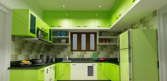The All Green And White Kitchen Design