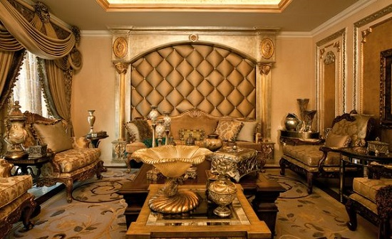Ultimate Golden Royal Luxury Living Room Part 60