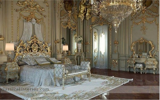 Ultimate Richie Rich Golden Royal Bedroom Design