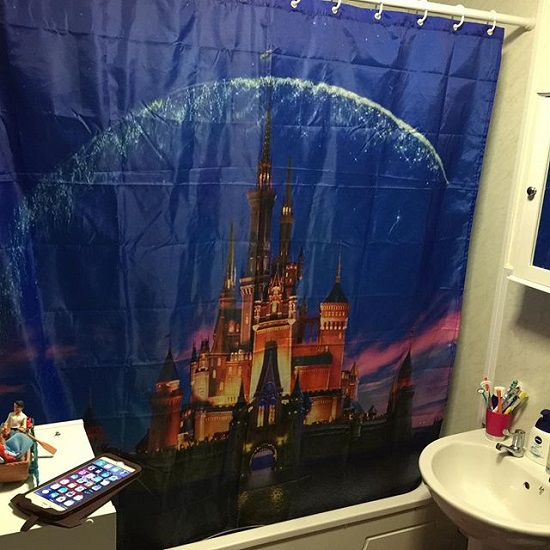 Vibrant Kids Disney Bathroom Shower Curtain