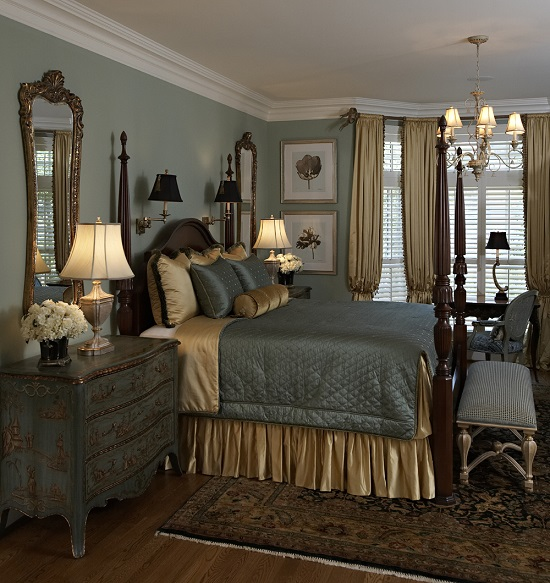 Vintage Gold Grey Bedroom Ideas