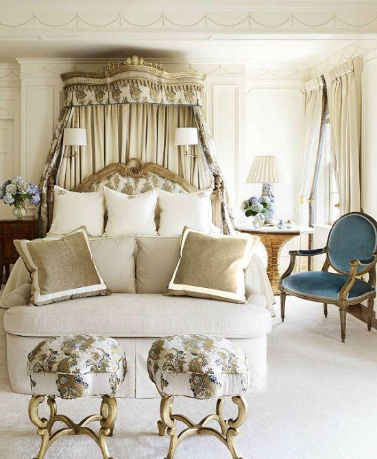 Genial Vintage Gold U0026 White Bedroom Ideas