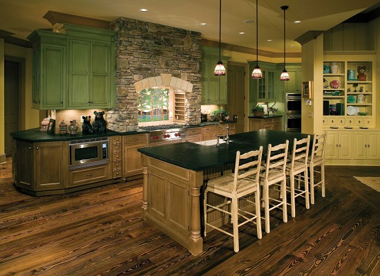 35 eco friendly green kitchen ideas ultimate home ideas for Green kitchen cabinets for eco friendly homeowners