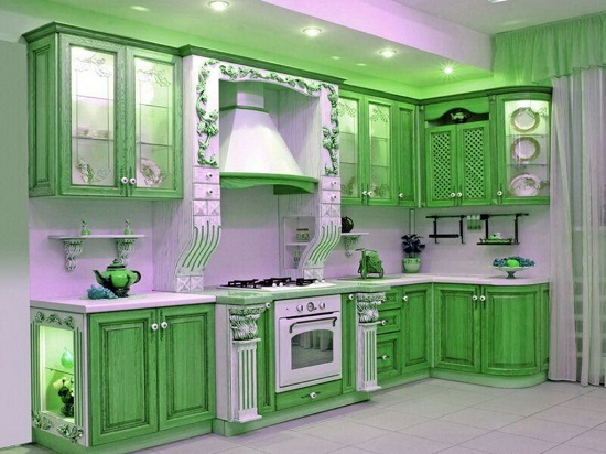 35 eco friendly green kitchen ideas ultimate home ideas for Green and white kitchen designs