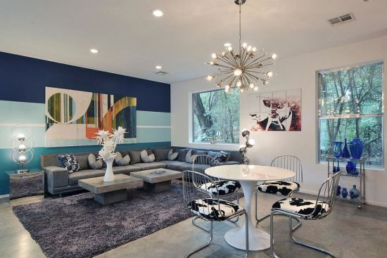 Cool blue accent walls 33 Stunning Accent Wall Ideas For Living Room