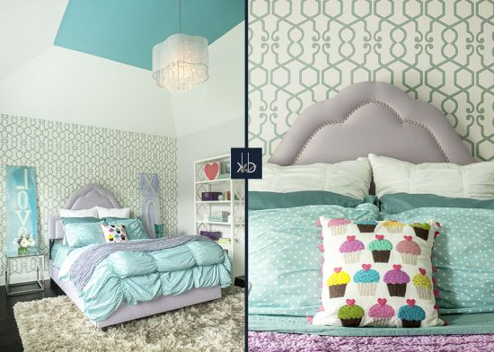 Perfect Cool blue accented girl bedroom decor idea
