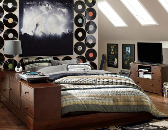 cool bedroom ideas. Cool musical wall on teen bedroom 35 Teen Bedroom Ideas That Will Blow Your Mind