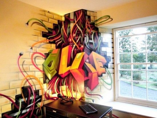 Graffiti Decorated Room