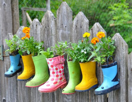 Creative DIY Garden Ideas With Old Boots