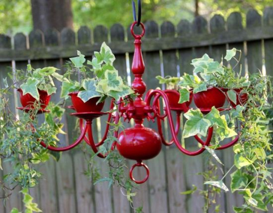 Hanging Garden Ideas outdoor decorating ideas vertical gardens and hanging gardens Creative Diy Hanging Garden Idea With Rustic Candle Holder