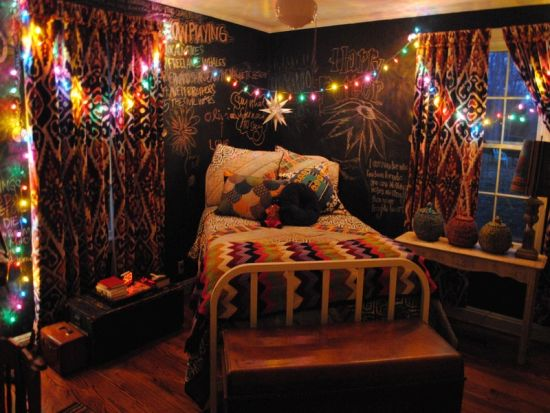 Charmant Cute Teen Bedroom Decor With Fairy Lights
