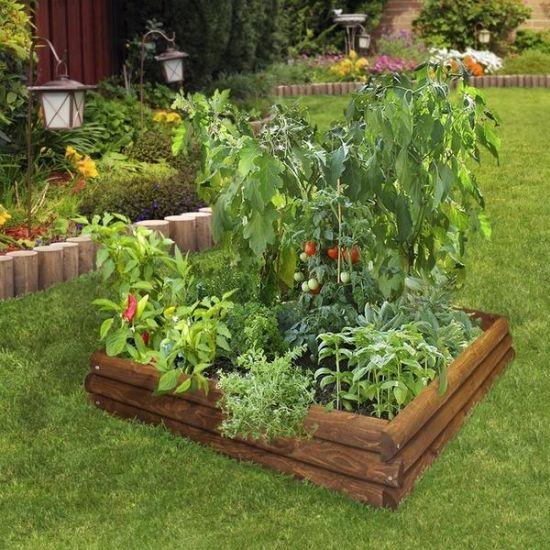Pallet Wood Raised Garden Bed: 37 Creative DIY Garden Ideas