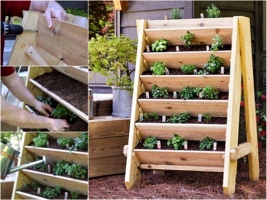 DIY Pallet Vertical Planter