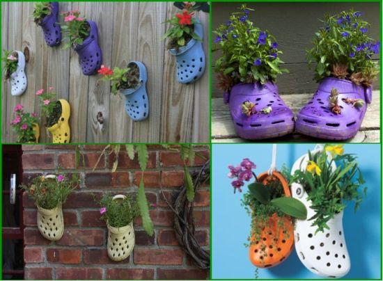 DIY Vertical Garden Idea With Shoe Planters