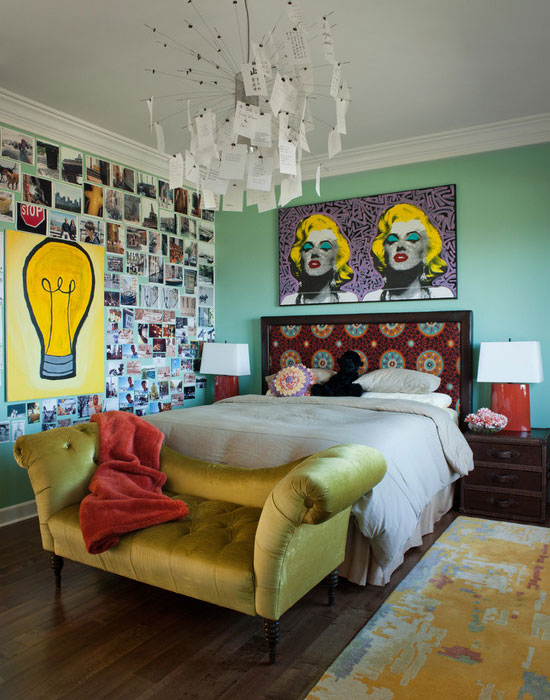 Retro themed walls in teen bedroom. 35 Cool Teen Bedroom Ideas That Will Blow Your Mind