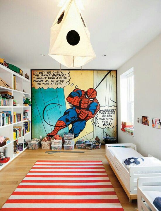 35 cool teen bedroom ideas that will blow your mind for Boys room mural