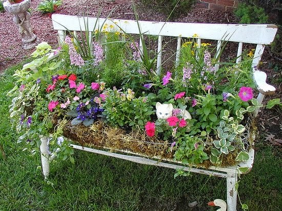 stunning old chair as diy garden idea