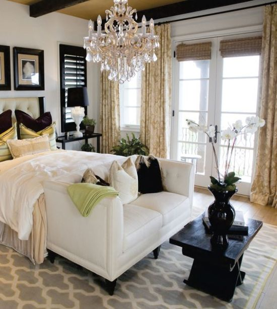 antique crystal chandelier for master bedroom