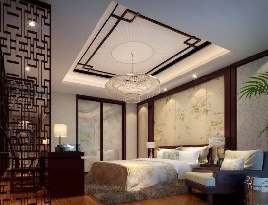 37 startling master bedroom chandeliers that exudes luxury asian styled master bedroom decor with contemporary chandelier mozeypictures Choice Image