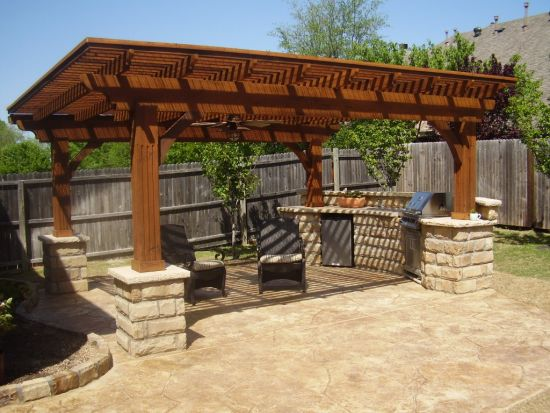 Beautiful wooden pergola design with kitchen island - 35 Beautiful Pergola Designs Ideas Ultimate Home Ideas