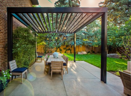 35 Beautiful Pergola Designs Ideas Ultimate Home Ideas : Chic modern patio pergola design with mid century accents from www.ultimatehomeideas.com size 550 x 404 jpeg 56kB