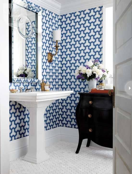 18 Tips For Rocking Bathroom Wallpaper