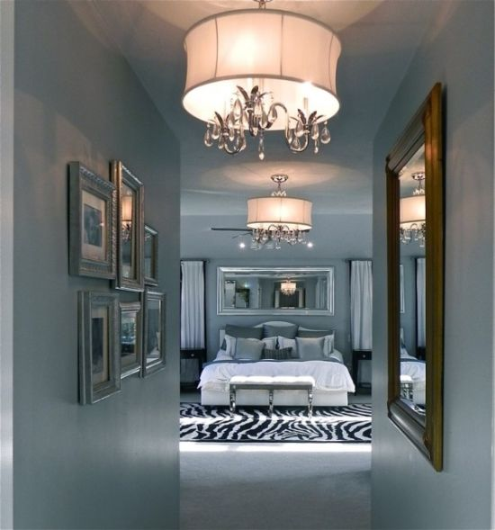 Awesome Delightful master bedroom decor with candle bulb chandelier