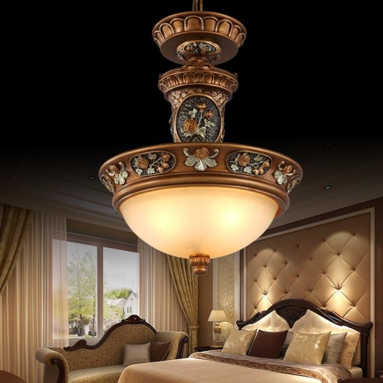 Great European styled antique chandelier for master bedroom