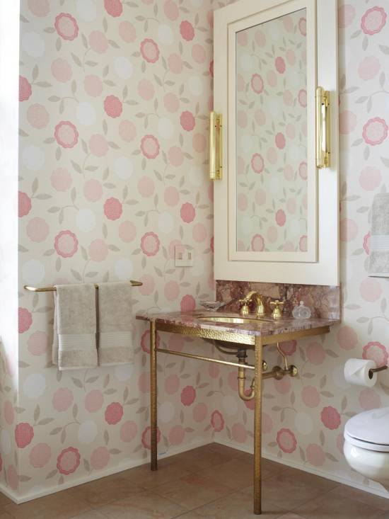 18 tips for rocking bathroom wallpaper for Modern bathroom wallpaper