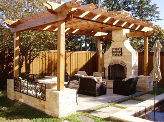 Marvelous Gorgeous Wooden Pergola Design Idea