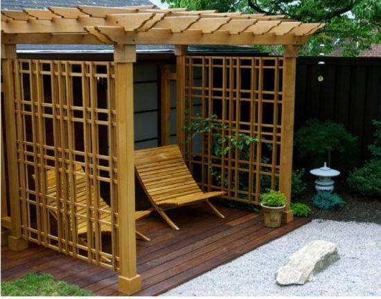 stunning japanese styled pergola design