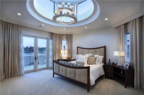 Tiered Pillar Candle Chandelier For Master Bedroom