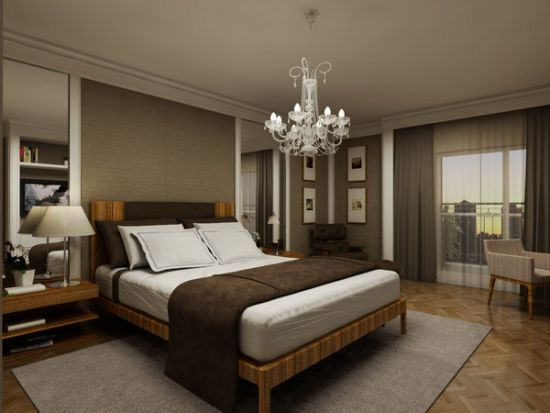 Exceptionnel White Crystal Chandelier For Master Bedroom Suit