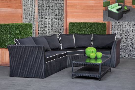 18 modern outdoor wicker furniture ideas for Black porch furniture