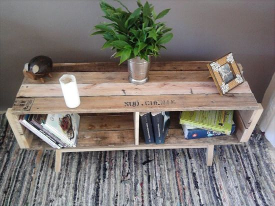 Creative DIY vintage pallet table. 37 DIY Home Decor Ideas for a Vintage Look