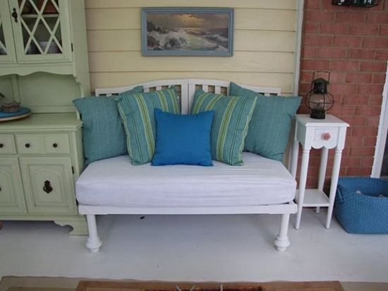 DIY vintage crib bench. 37 DIY Home Decor Ideas for a Vintage Look