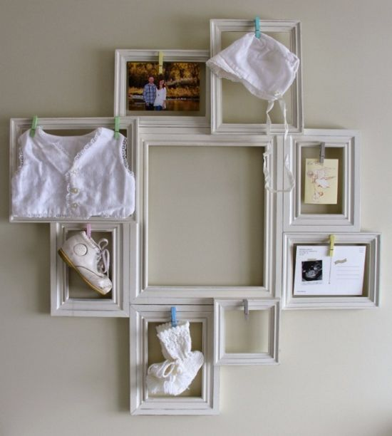 Innovative vintage DIY wall decoration with frames. 37 DIY Home Decor Ideas for a Vintage Look