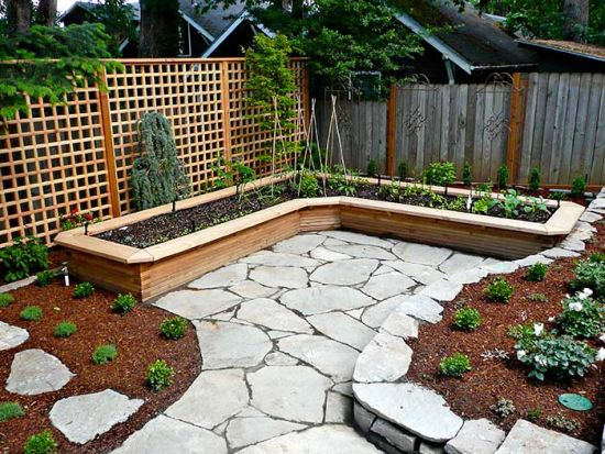 L Shaped Vegetable Raised Bed For Small Garden