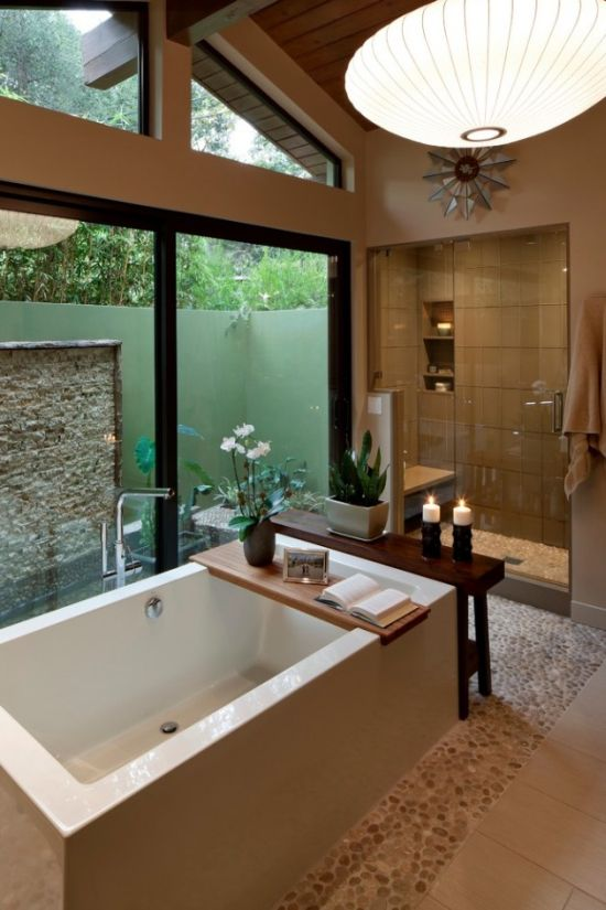 mid century sullivan canyon modern bathroom remodel design - Modern Bathroom Remodel Designs
