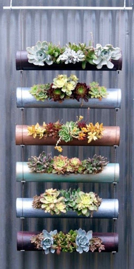 Small Balcony Garden Design With Hanging Succulents
