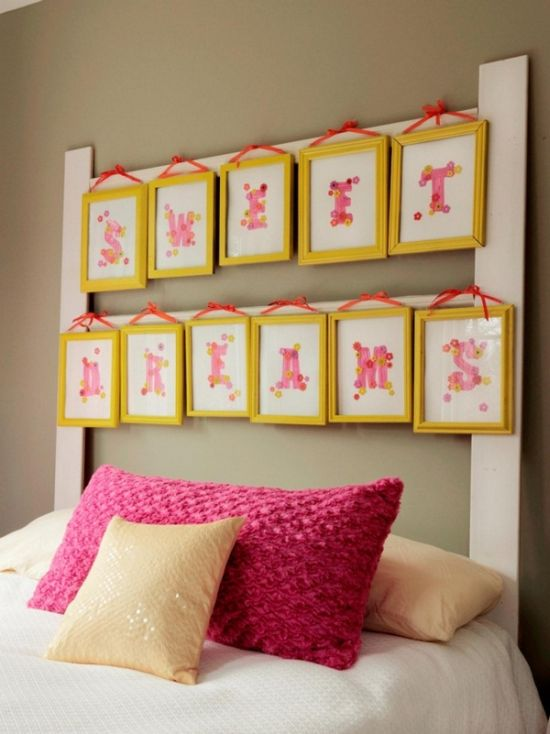 Sweet DIY vintage frame decor on bedroom wall37 DIY Home Decor Ideas for a Vintage Look. Diy Vintage Home Decor. Home Design Ideas