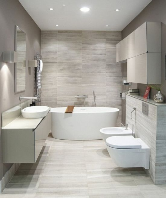 35 modern bathroom ideas for a clean look for Bathroom designs contemporary