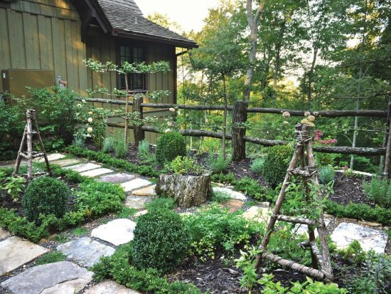 33 creative garden fencing ideas ultimate home ideas for Rustic landscape ideas