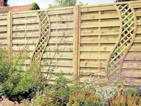 33 creative garden fencing ideas ultimate home ideas for Wooden garden screen designs